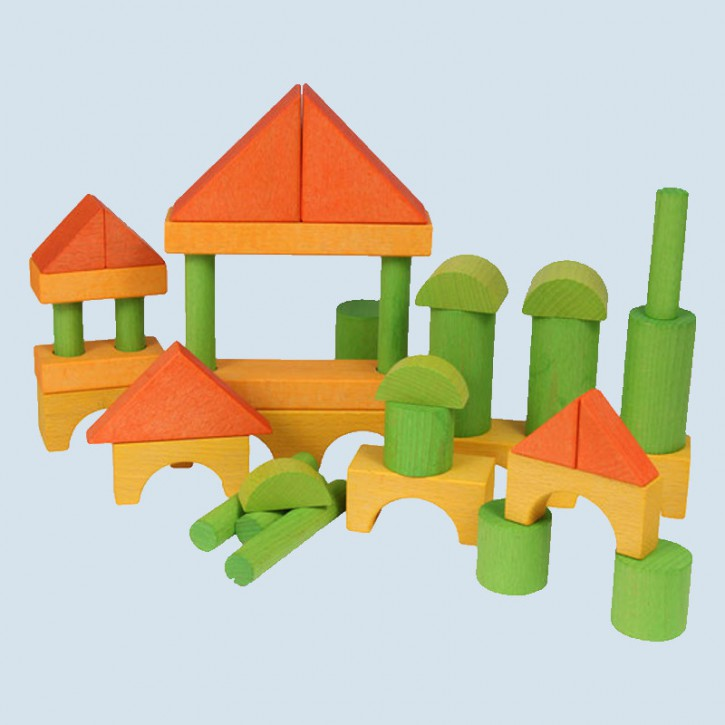 Beck - wooden building blocks - colored, extension