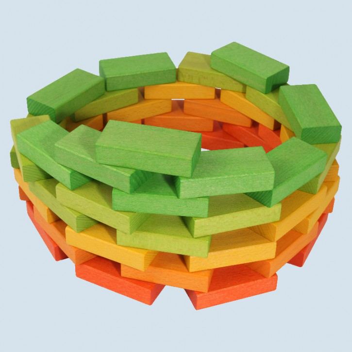 Beck - wooden building blocks, bricks - colored