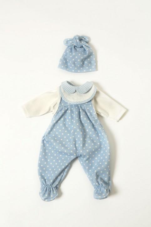 Heidi Hilscher Puppenkleidung - Set Strampler hellblau - Bio Qualität