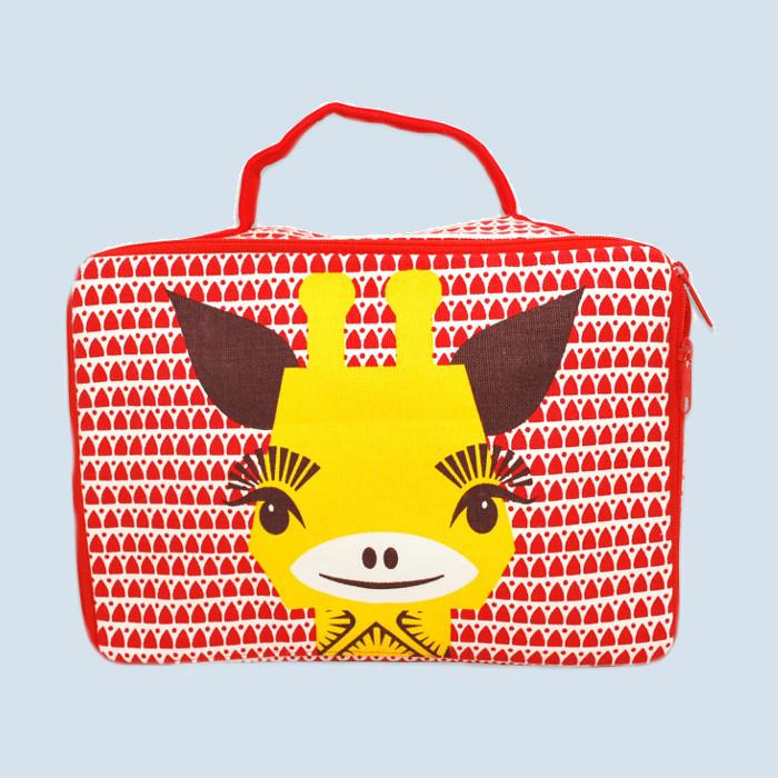 Coq en Pate - Koffer für Kinder - Giraffe - Baumwolle, Bio Qualität