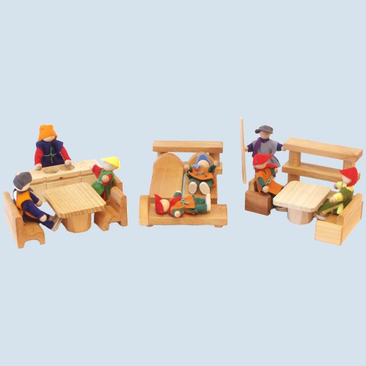 Decor -  Puppenmöbelset 13 teilig,  Holz