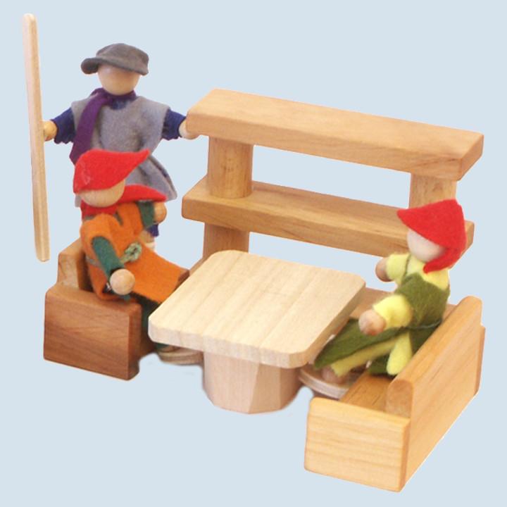 Decor -  Möbelset Wohnzimmer, 4teilig,  Holz