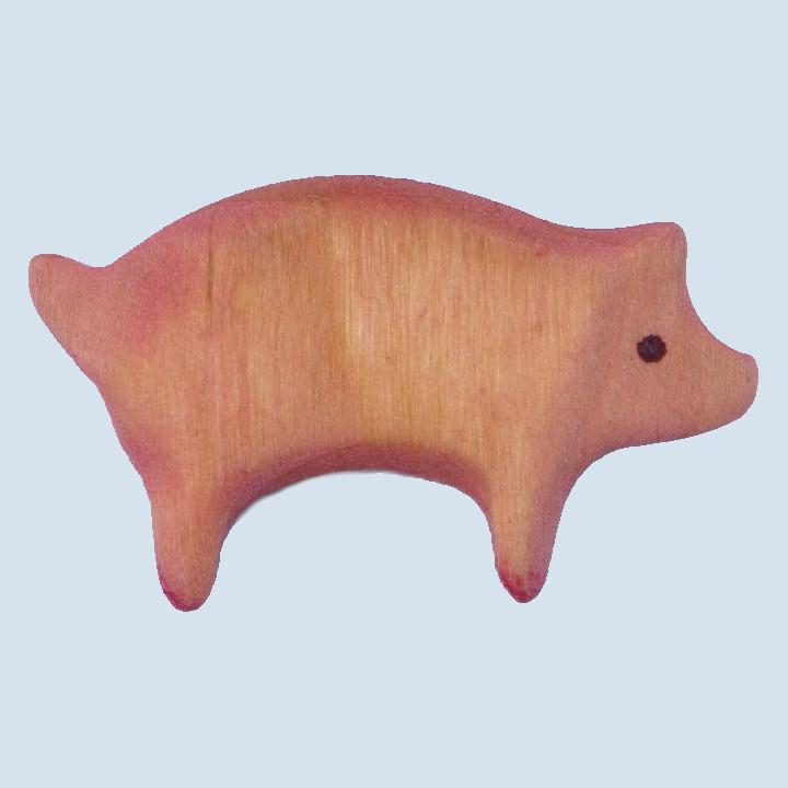 Decor - wooden animal - pig