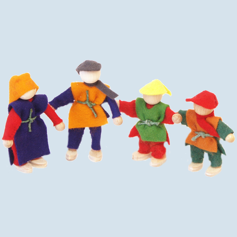 Decor - Filzpüppchenset, Familie, 4 teilig, Holz