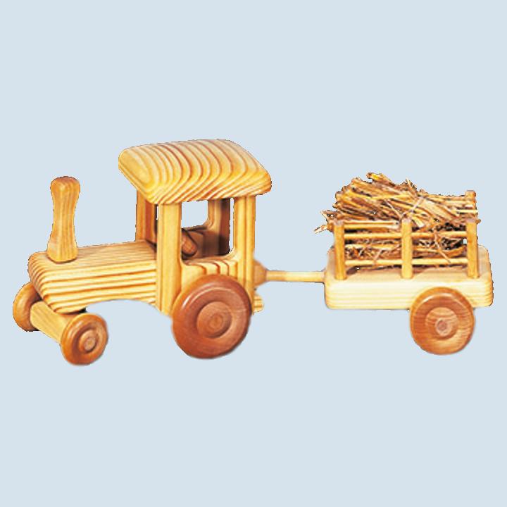 Drei Blätter - Traktor mit Anhänger