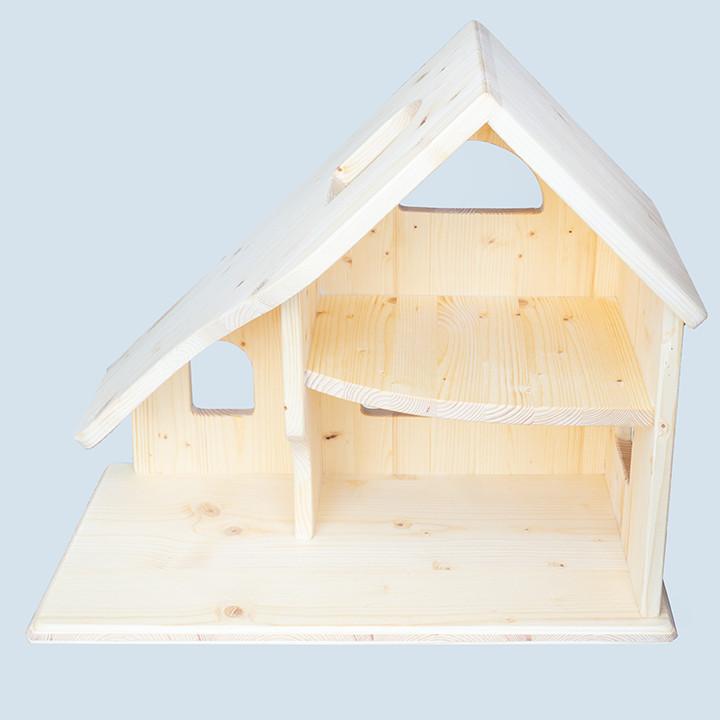 Drei Blätter - Puppenhaus 2-stöckig, Holz
