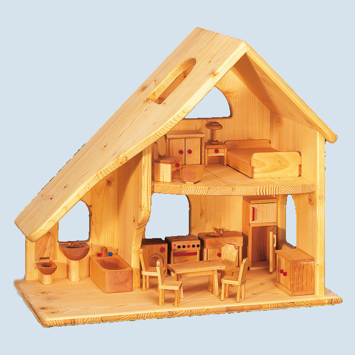 Drei Blätter - dollhouse, wood