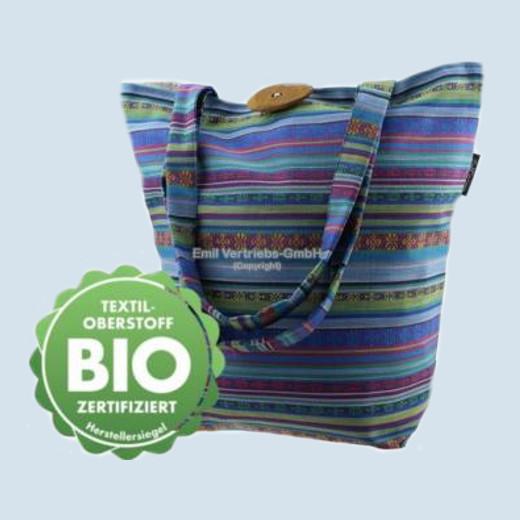 Emil die Flasche - Shopper, Tasche blau gestreift - Bio Qualität