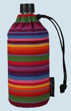 Emil die Flasche - Trinkflasche gestreift - 0,4 L Textil Oberstoff Bio
