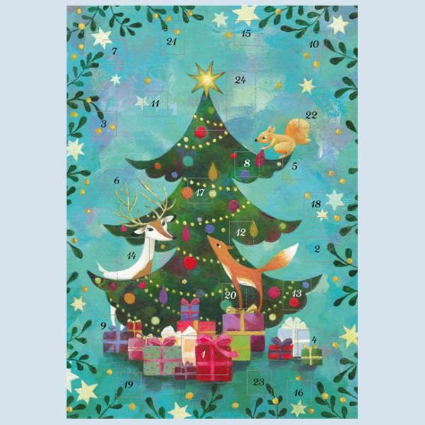 Grätz Verlag - Adventskalender - Tannenbaum mit Waldtieren