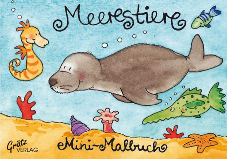 Grätz Verlag - Mini Malbuch Meerestiere