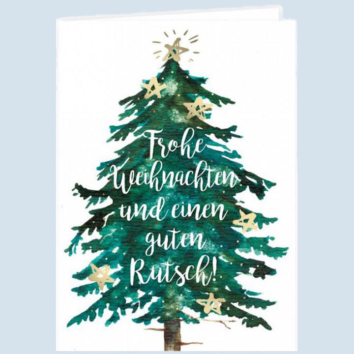 Grätz Verlag - Klappkarte - Baum mit Sternen