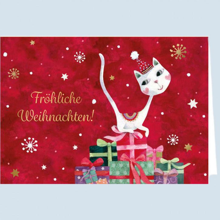Grätz Verlag - Weihnachtskarte - Katze - mit Umschlag