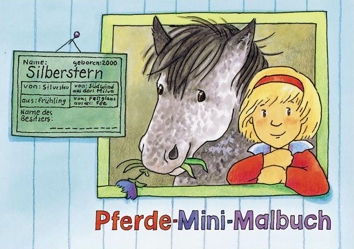 Grätz Verlag - Mini Malbuch, Kindermalbuch - Pferde - für Pferdefreunde - DINA7