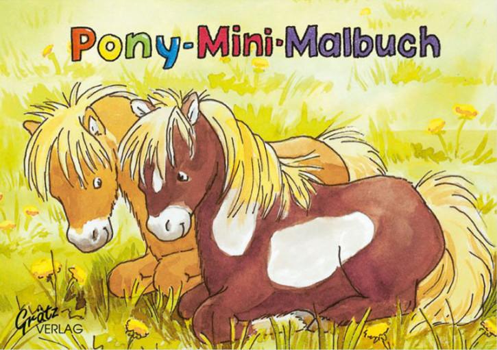 Grätz Verlag - Mini Malbuch - Ponys - für Pferdefreunde - DINA7
