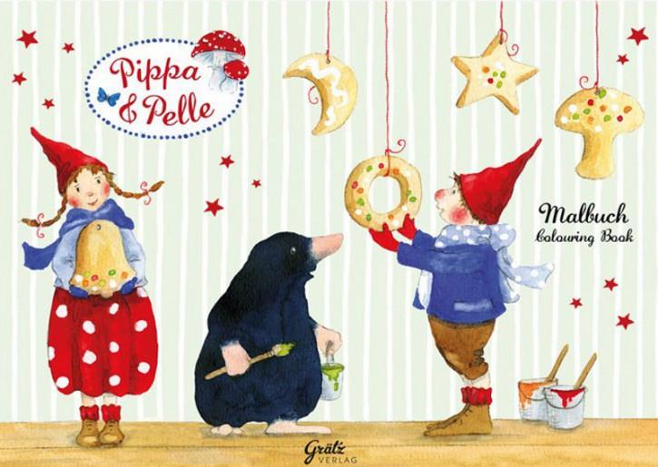 Grätz Verlag - Malbuch - Weihnachten mit Pippa, Pelle, Maulwurf
