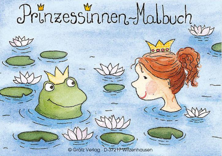 Grätz Verlag - Mini Malbuch, Kindermalbuch - Prinzessinnen