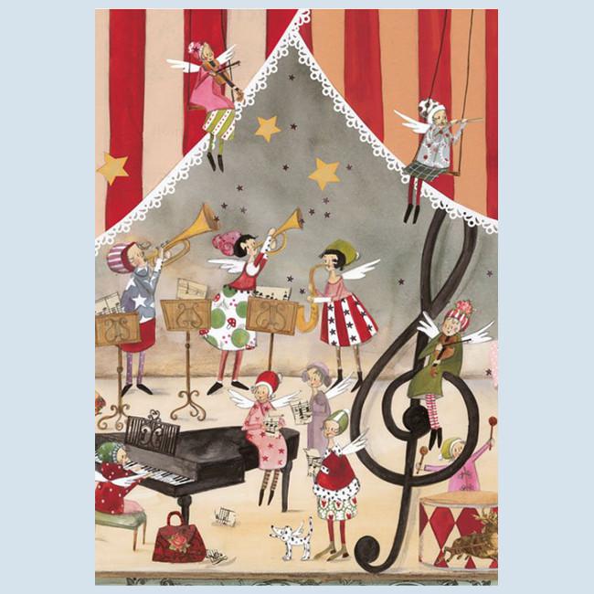 Grätz Verlag - Postkarte - Weihnachtskarte, Weihnachtskonzert