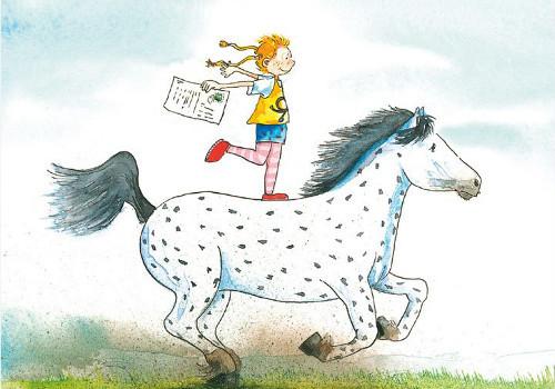 Grätz Verlag - Postkarte - Pippi und kleiner Onkel