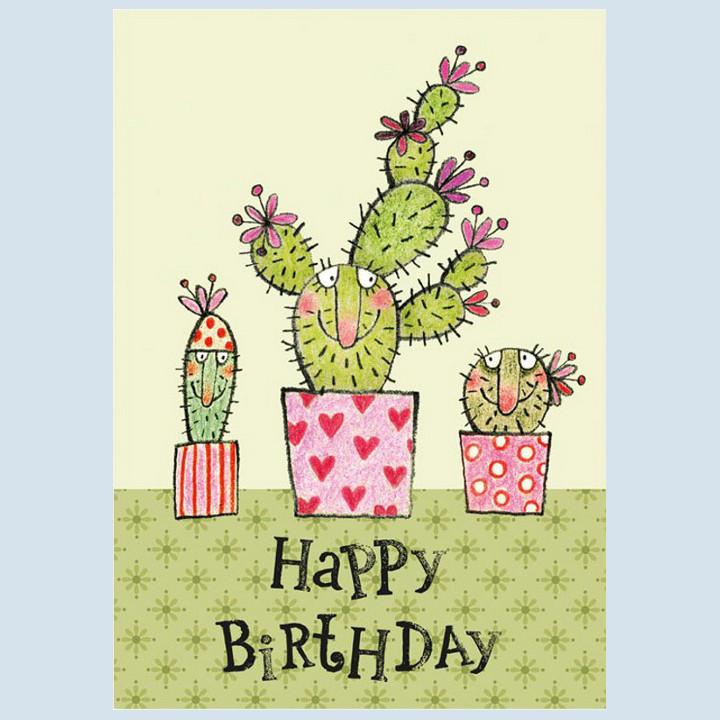 Grätz Verlag - Postkarte zum Geburtstag - Kaktus