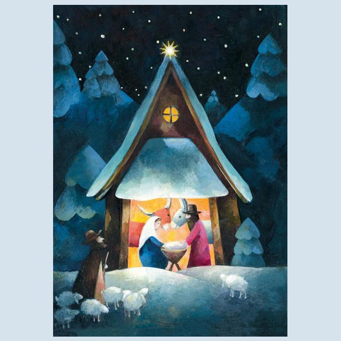 Grätz Verlag - Postkarte - Weihnachtskarte - Krippe