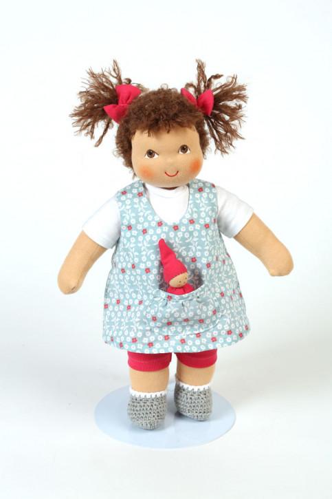 Heidi Hilscher Puppe - Bio Schlenkerpuppe Vreni - braune Haare