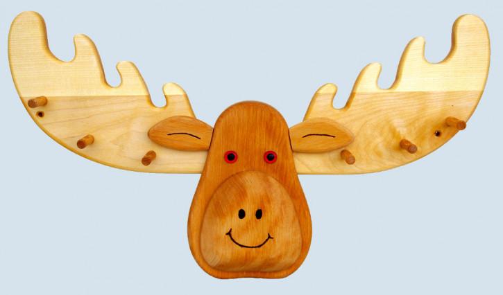 Lammetal - Garderobe für Kinderzimmer - Elch - Holz