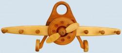 Lammetal - Garderobe für Kinderzimmer - Flugzeug - Holz