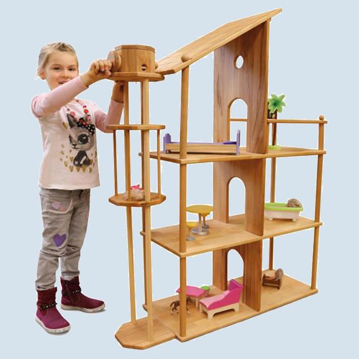 Lammetal - Puppenhaus - mit Fahrstuhl - Buche