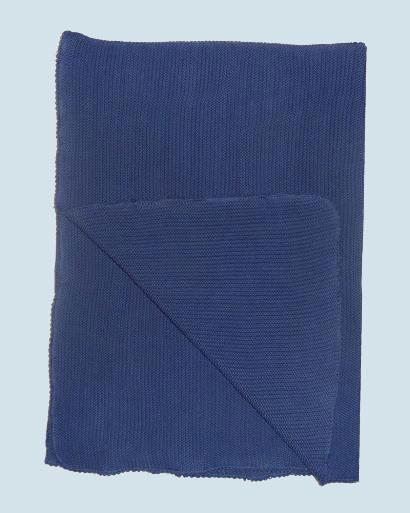 Lana Baby Wickeldecke - Wolle, Bio Qualität, blau