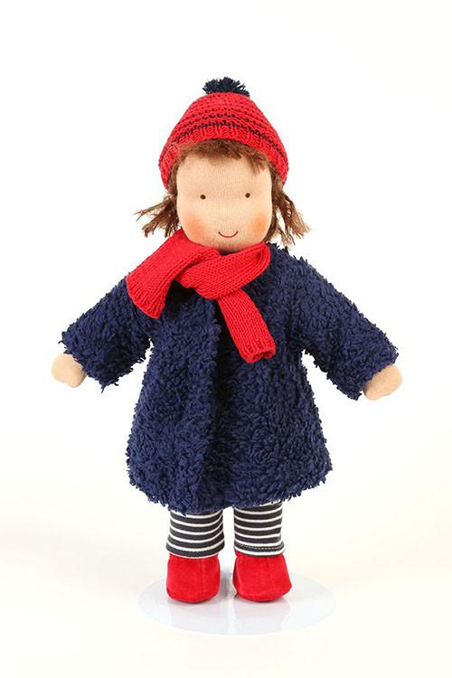 Heidi Hilscher - Puppenkleidung - Winterset blau, Bio