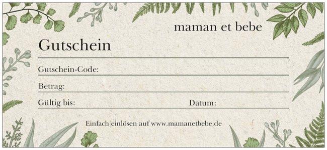 maman et bebe - Geschenkgutschein - 15 Euro