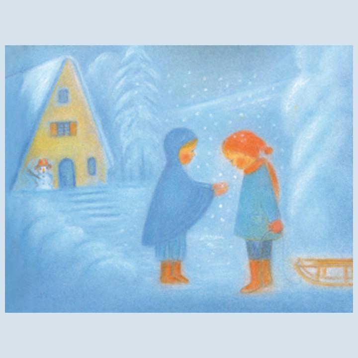 Kunstpostkarte - im Schnee