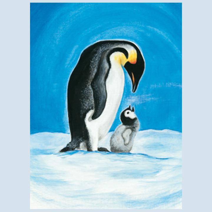 Kunstpostkarte - Pinguine