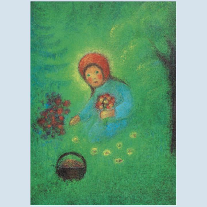 Kunstpostkarte - Rotkäppchen