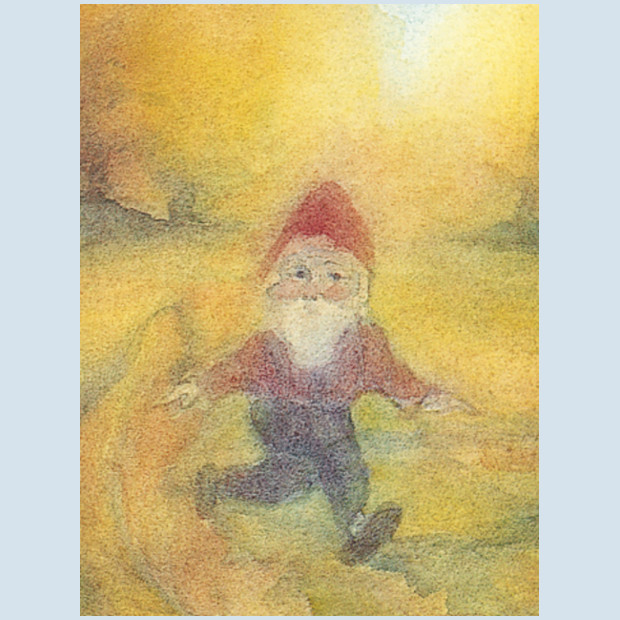 Kunstpostkarte -  Zwerglein