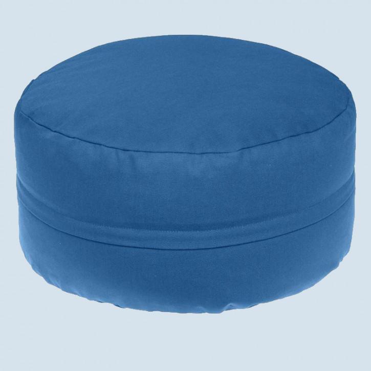 mudis - Yogakissen - blau, Baumwolle, Bio