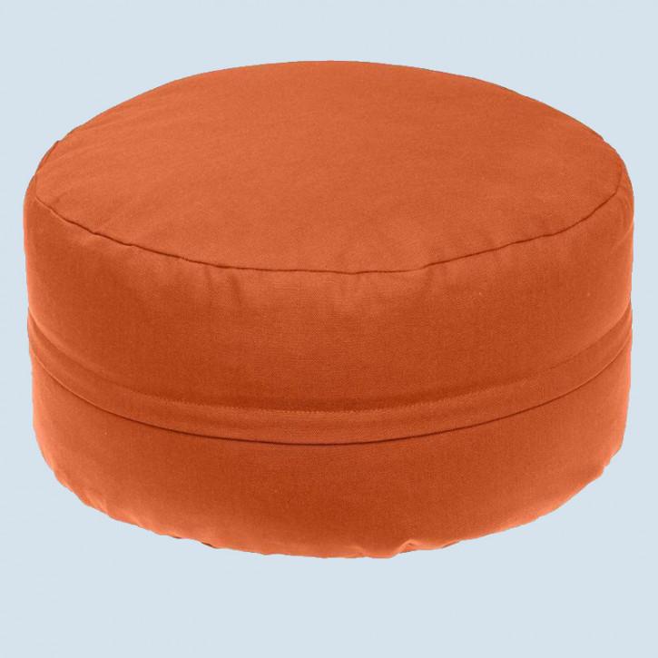 mudis - Yogakissen - orange, Baumwolle, Bio