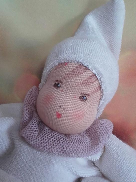 Nanchen Puppe - Weihnachtsedition Flöckchen, rose - Bio