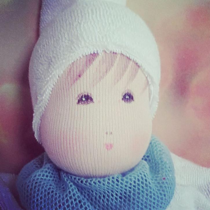 Nanchen Doll - Flöckchen turquoise, organic cotton