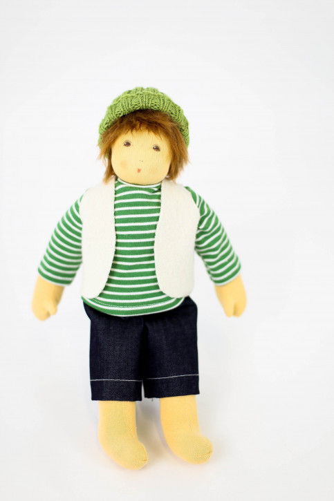 Nanchen organic doll - winter child Paul, cotton organic