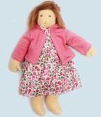 Nanchen Puppe - Blumenmädchen Flora, rosa Bio Baumwolle