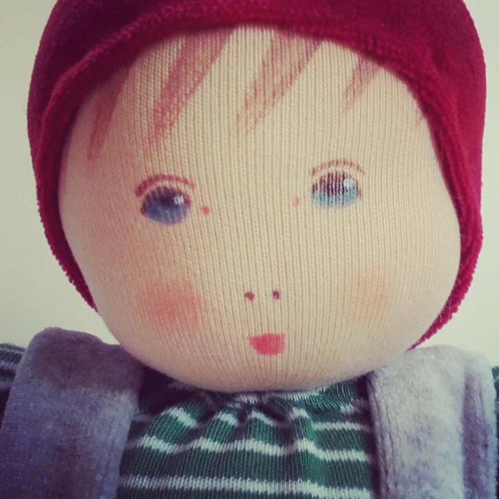 Nanchen Puppe - Weihnachtswichtel Paul - Bio Baumwolle
