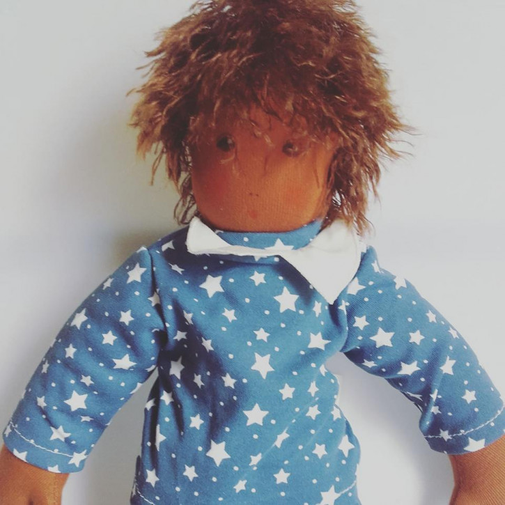 Nanchen doll - Boy Felix - without clothes - organic cotton