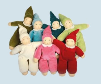 Nanchen doll - Nani lime green - organic cotton, eco