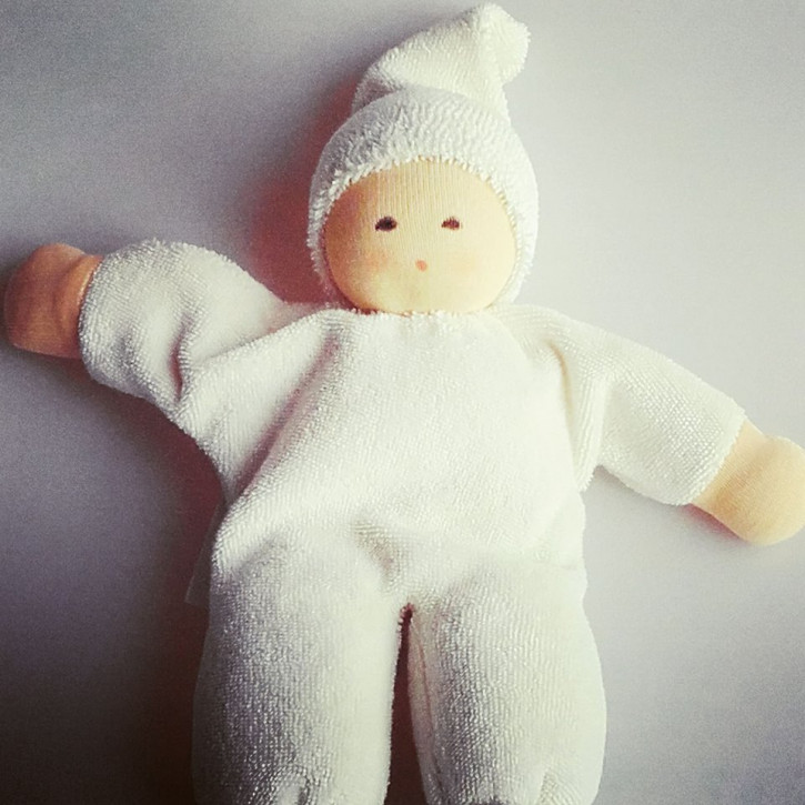 Nanchen - organic soft doll - Nucki - natural color, organic