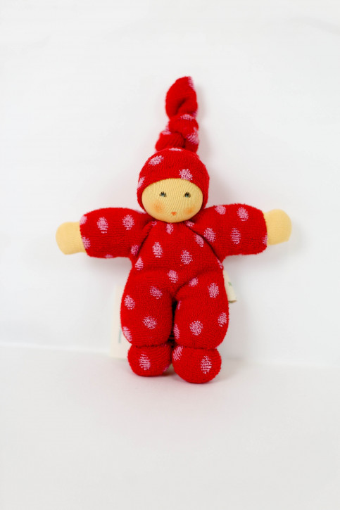 Nanchen Doll - Pimpel - red dots, organic cotton, eco