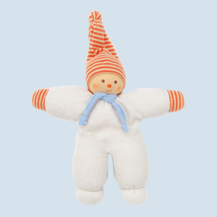 Nanchen - organic soft toys - snowman - orange, organic