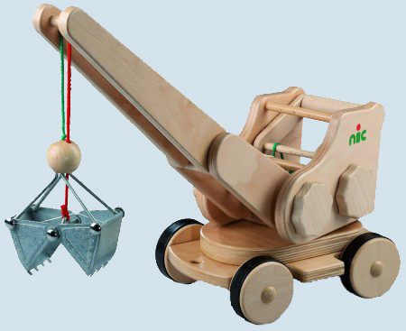 nic creamobil - Bagger - Holz, Made in Germany