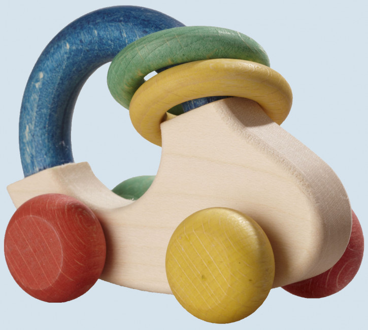 nic, Walter - Baby Greifling Auto - Holz, Naturfarben, bio
